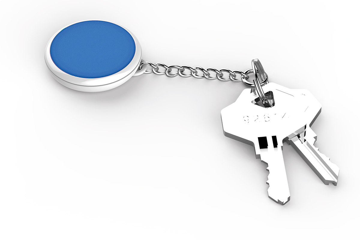 A key ring for Tempo Disc Bluetooth units